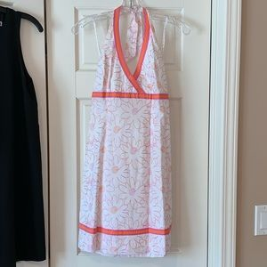 Lilly Pulitzer Embroidered Pattern Halter Dress